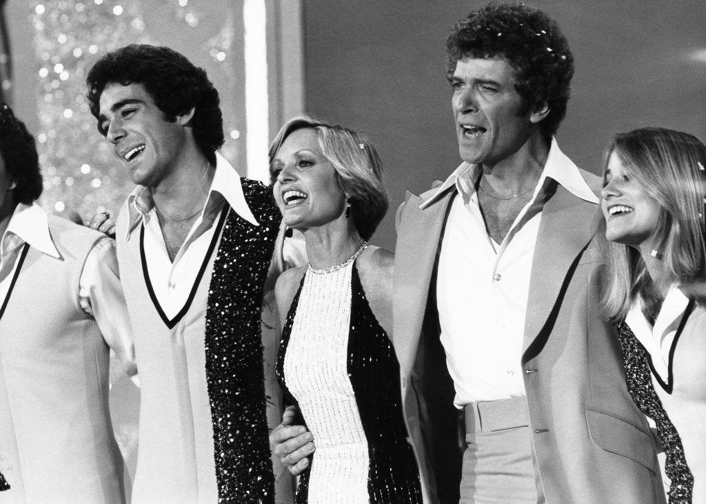 Barry Williams, Florence Henderson, Robert Reed, and Maureen McCormick of 'The Brady Bunch Variety Hour'