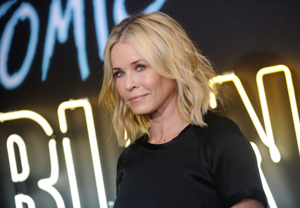 """Chelsea Handler attends the premiere of """"Atomic Blonde"""" at The Theatre at Ace Hotel on July 24, 2017 in Los Angeles, California."""