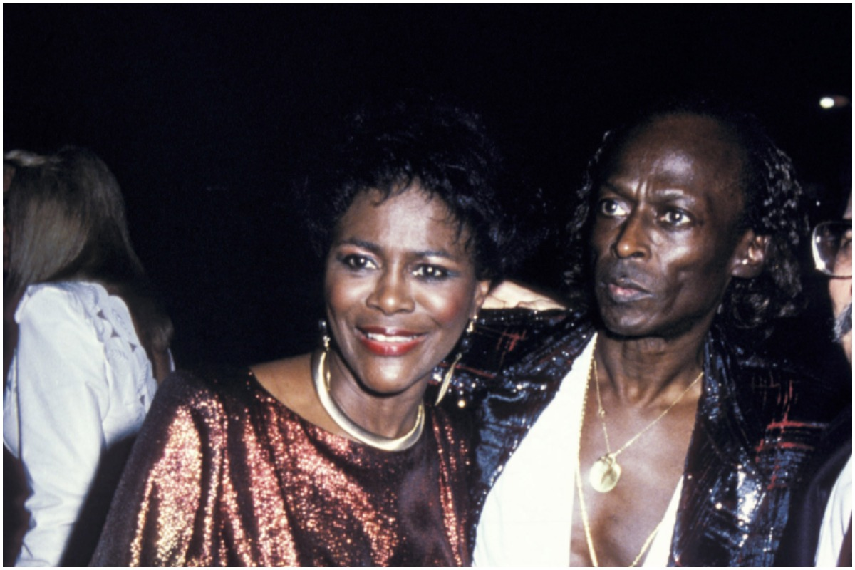 Cicely Tyson and Miles Davis during The 28th Annual GRAMMY Awards at Shrine Auditorium in Los Angeles, California, United States.