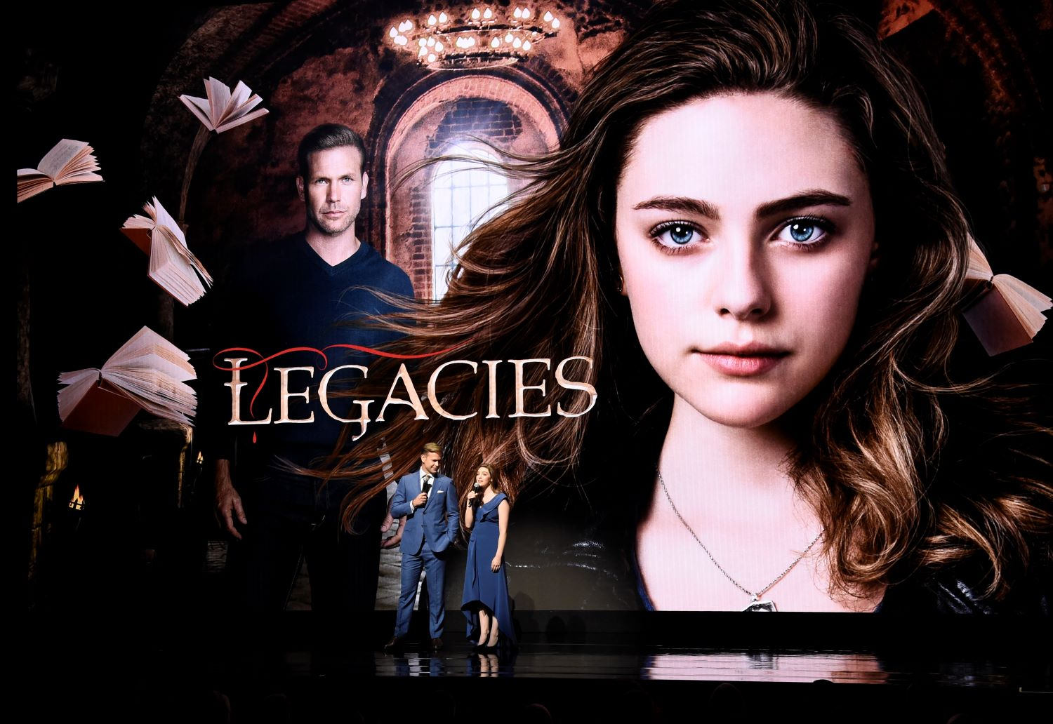Danielle Rose Russell and Matt Davis of 'Legacies'