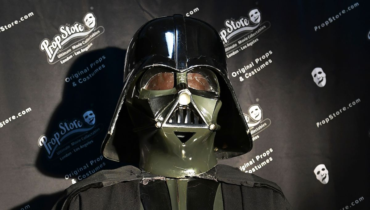 Darth Vader's helmet at the Prop Store Auction