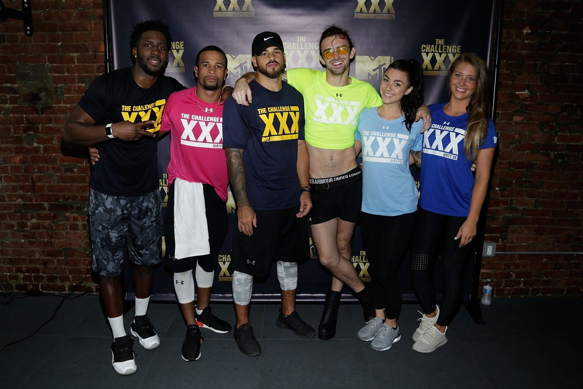 "Derrick Henry, Nelson Thomas, Cory Wharton, Chris ""Ammo"" Hall, Kailah Casillas and Jenna Compono attend The Challenge XXX: Ultimate Fan Experience"