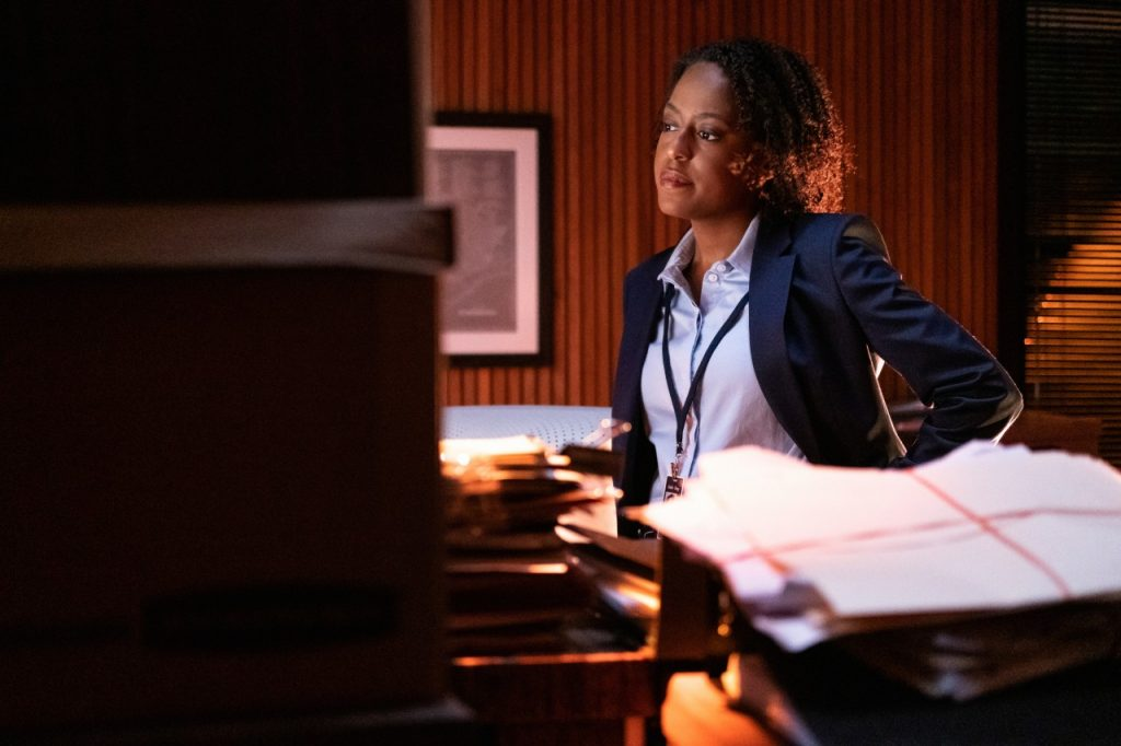 Devyn Tyler on the set of 'Clarice'   Brooke Palmer/CBS via Getty Images