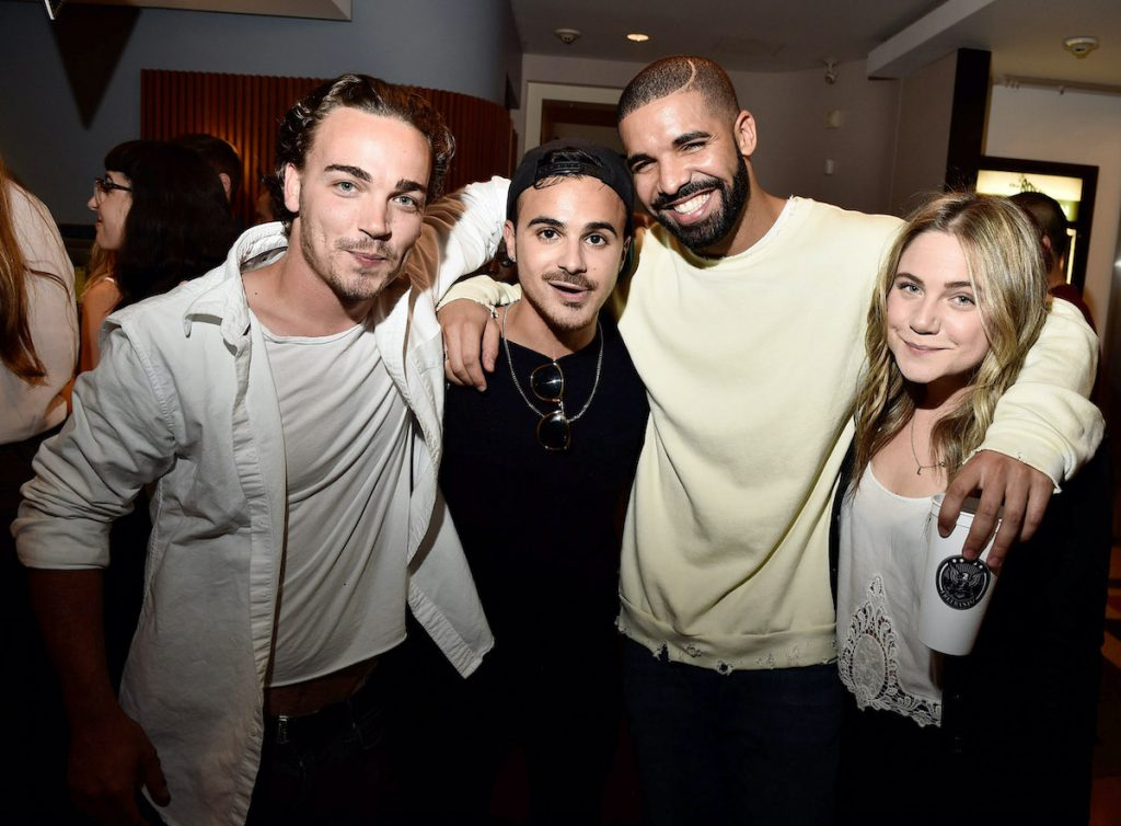 Drake with former 'Degrassi: The Next Generation' co-stars