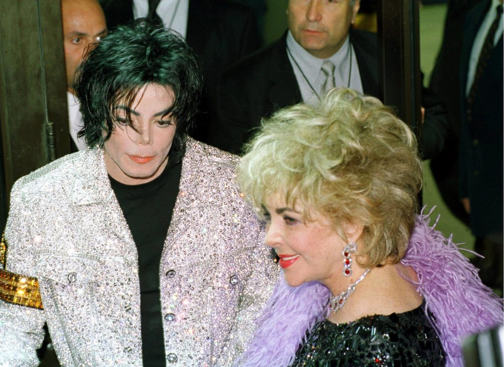 Michael Jackson and Elizabeth Taylor arriving for Michael Jackson's concert, at Madison Square Garden in New York City.