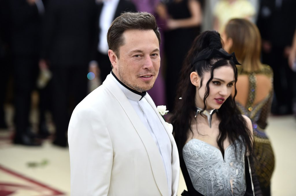Elon Musk and Grimes attend the Metropolitan Museum of Arts gala