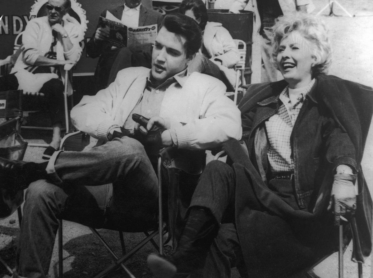 Elvis Presley and Barbara Stanwyck