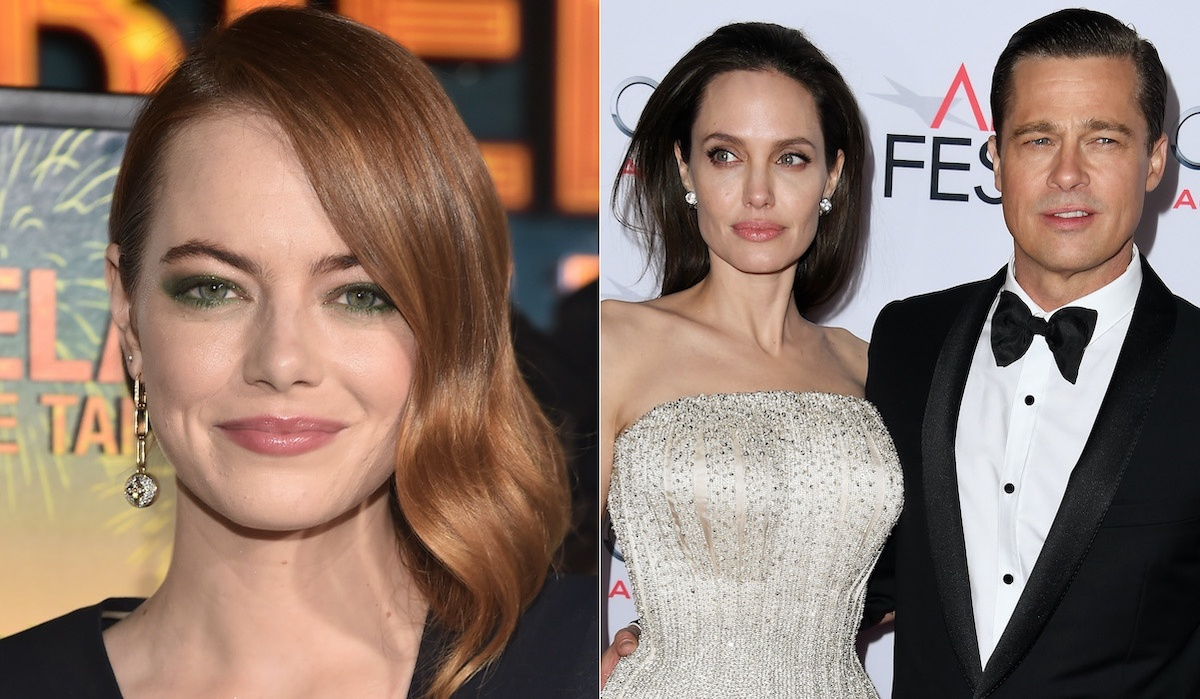 Emma Stone Angelina Jolie Brad Pitt