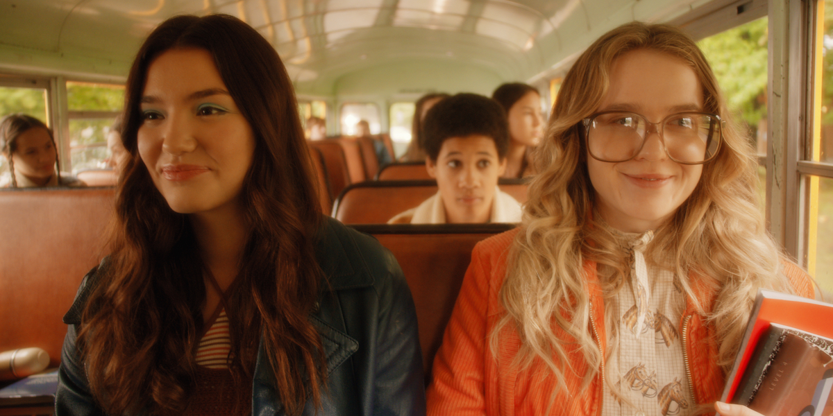 Young Tully and Young Kate on bus in Firefly Lane