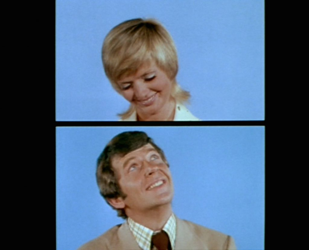 Florence Henderson as Carol Brady and Robert Reed as Mike Brady in the opening sequence of 'The Brady Bunch'