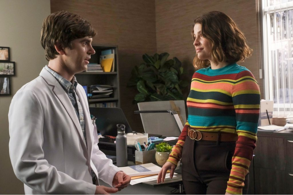 Freddie Highmore and Paige Spara on 'The Good Doctor' | Jeff Weddell via Getty Images