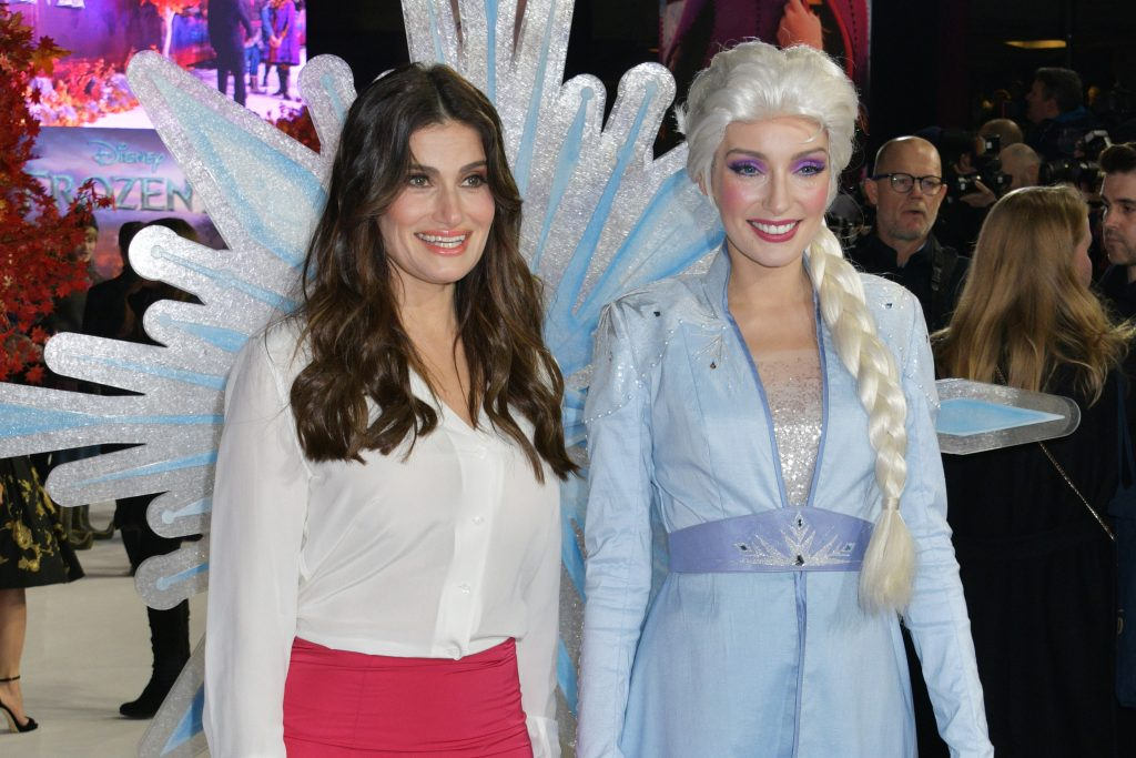 Idina Menzel and Elsa attend the European Premiere of 'Frozen 2'