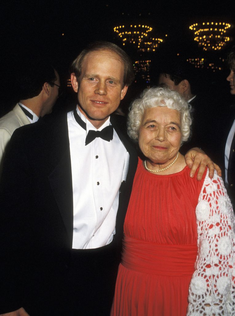 Ron Howard and mother Jean Speegle Howard