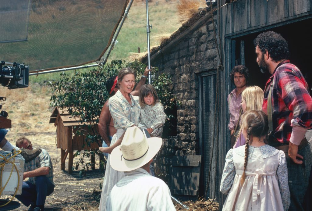 On the set of 'Little House on the Prairie'