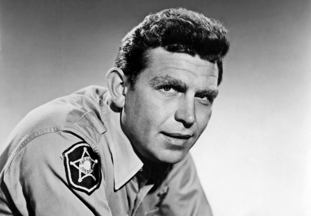 Actor, comedian, writer, and singer Andy Griffith, 1963