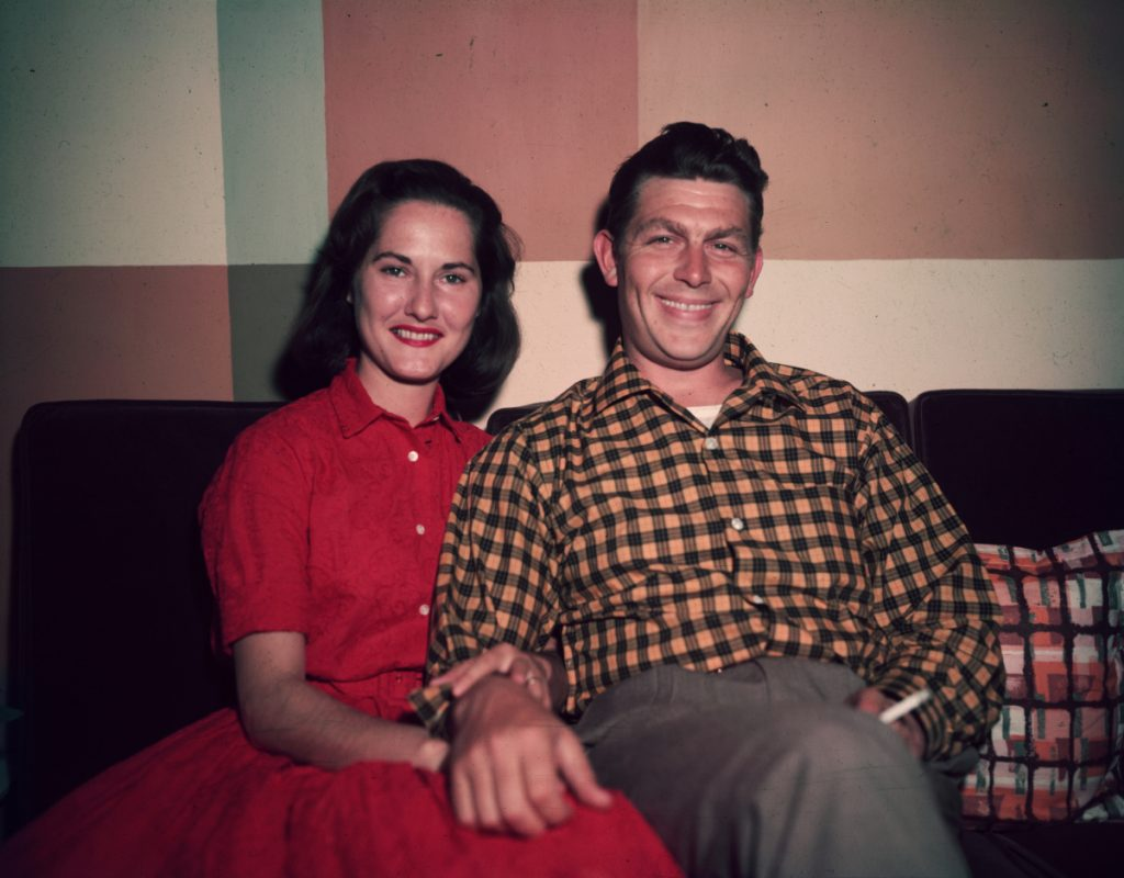 Andy Griffith with first wife Barbara in 1965