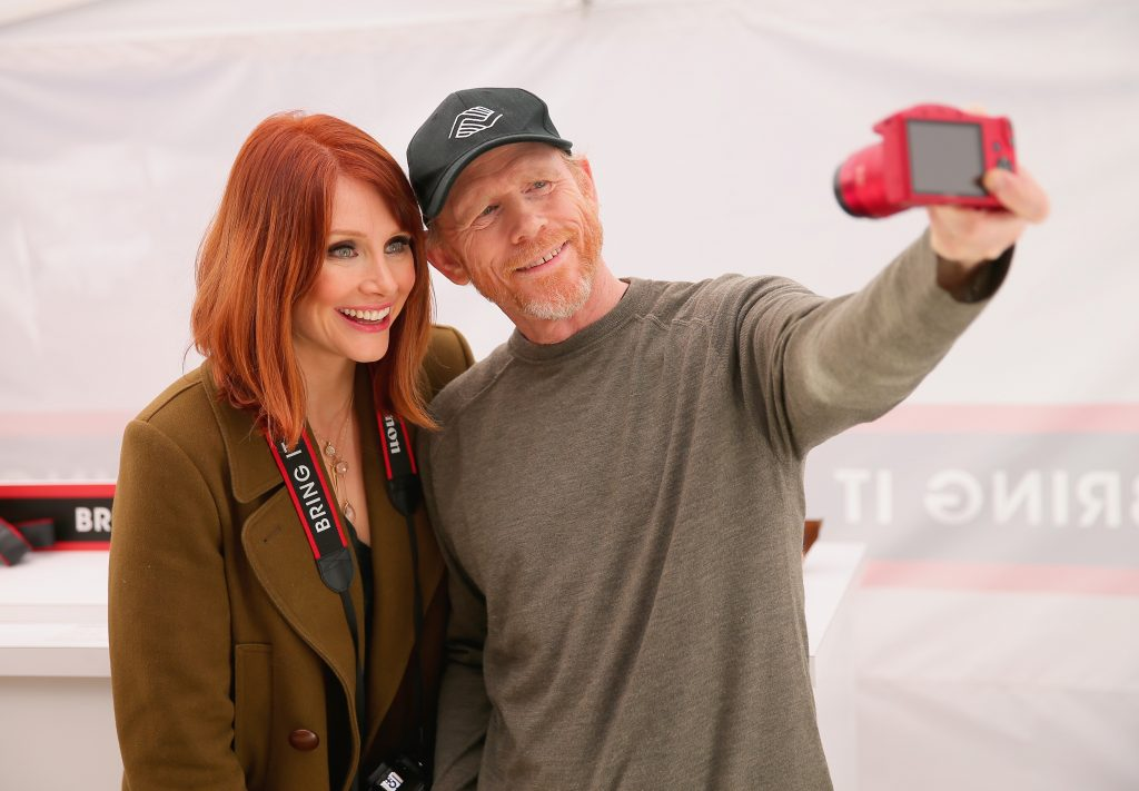 Ron Howard, right, with daughter Bryce Dallas Howard