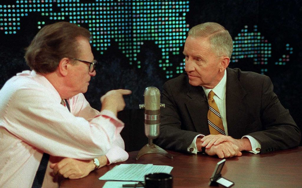 Larry King and Reform Party candidate Ross Perot