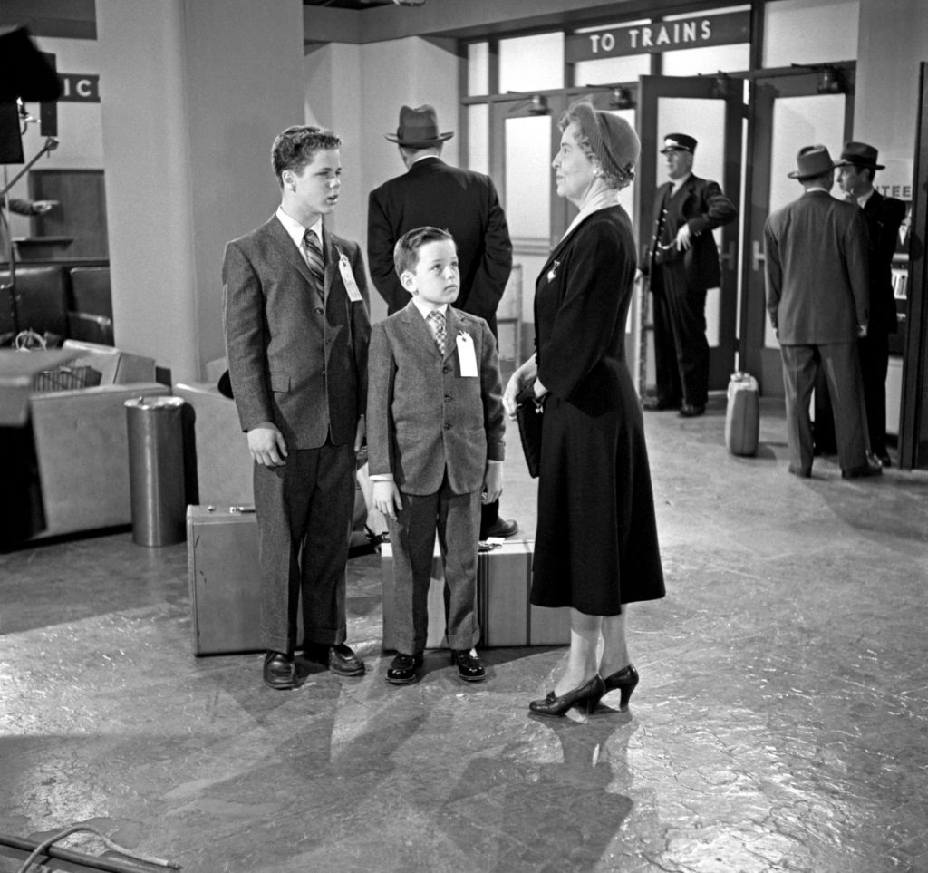 Jerry Mathers, center, in a scene from 'Leave It to Beaver,' 1958