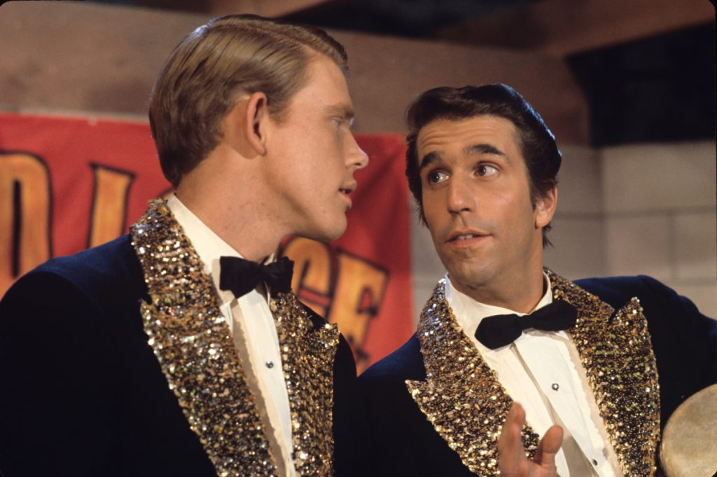 Ron Howard, left, with Henry Winkler on 'Happy Days' in 1974