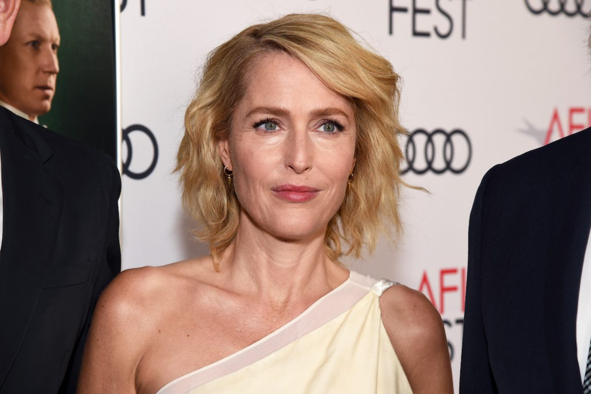 Gillian Anderson attends the Peter Morgan tribute during 'The Crown' premiere