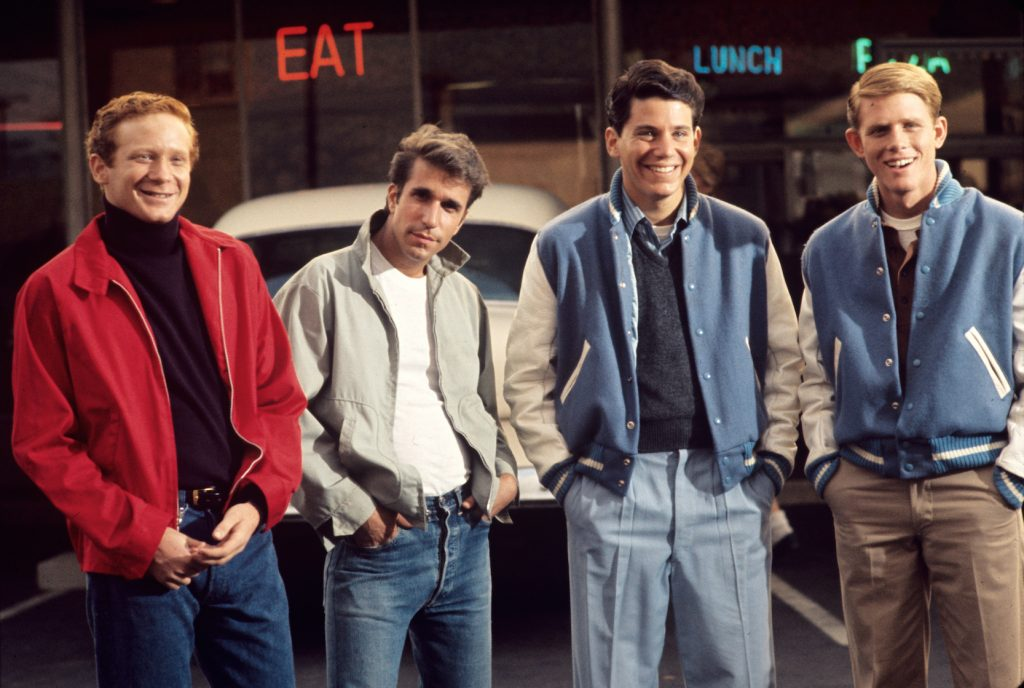 Ron Howard, Anson Williams, Donny Most, and Henry Winkler from 'Happy Days'