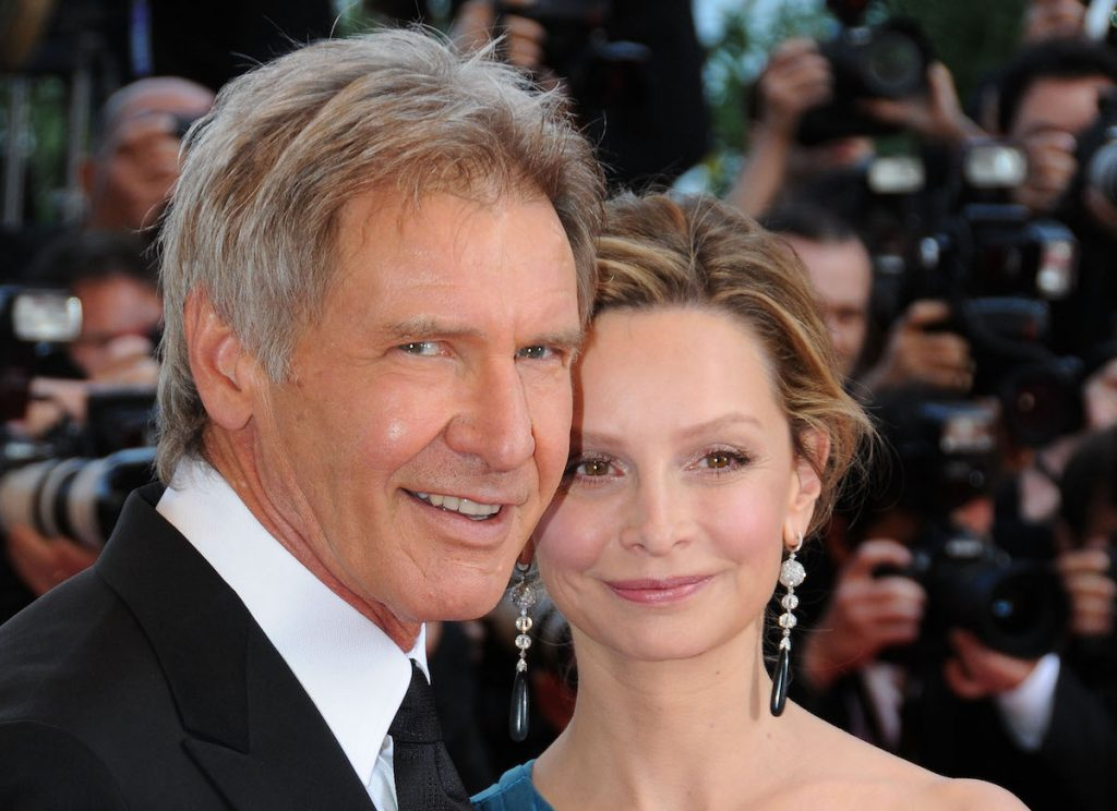 Actors Harrison Ford and Calista Flockhart attend the 'Indiana Jones and the Kingdom of the Crystal Skull' premiere at the Palais des Festivals during the 61st Cannes International Film Festival on May 18, 2008, in Cannes, France.