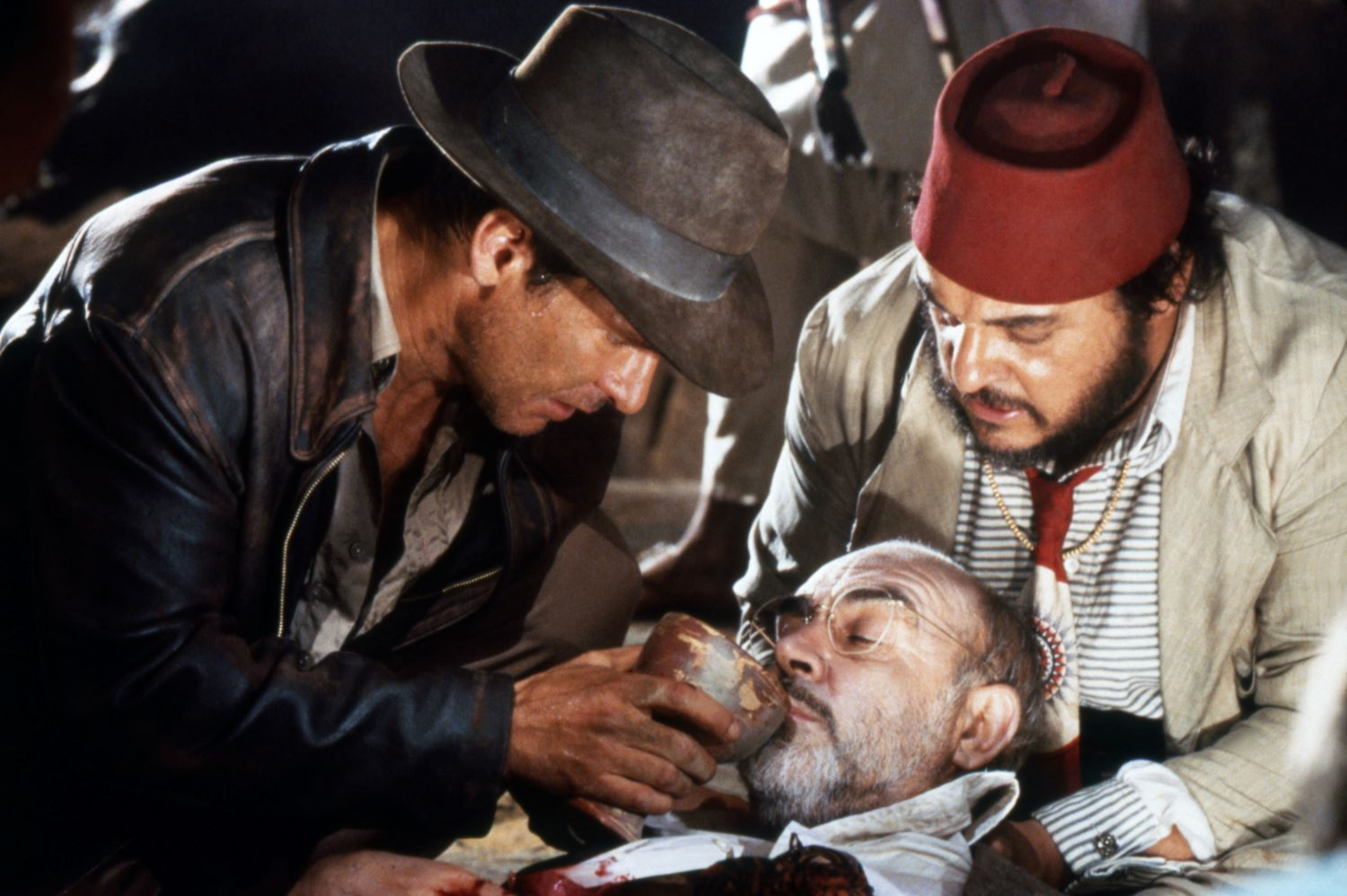 Harrison Ford, John Rhys-Davies and Sean Connery in 'Indiana Jones and the Last Crusade'
