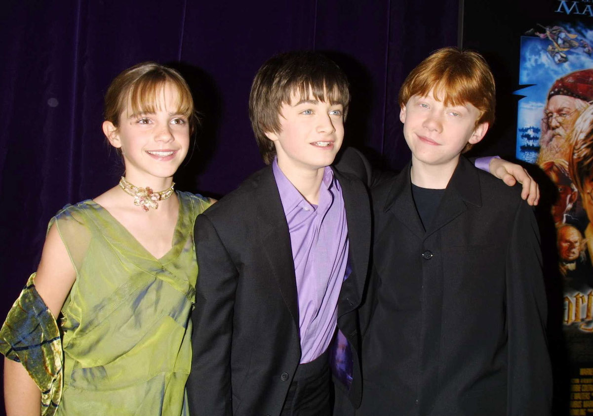 Emma Watson, Daniel Radcliffe, and Rupert Grint at the premiere for 'Harry Potter and the Sorcerer's Stone' in 2001