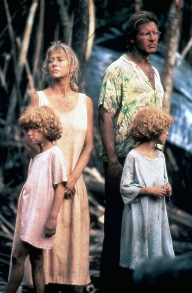 Helen Mirren and Harrison Ford in 'The Mosquito Coast'