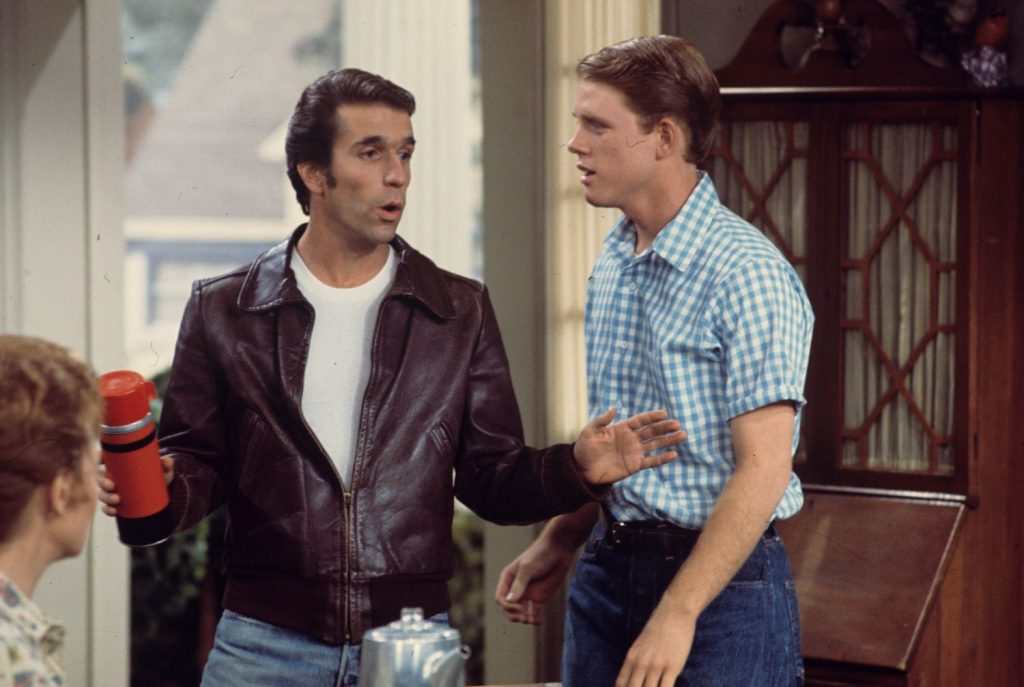 Henry Winkler and Ron Howard on 'Happy Days