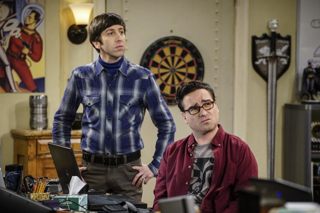Howard Wolowitz with Leonard Hofstadter and Colonel Williams