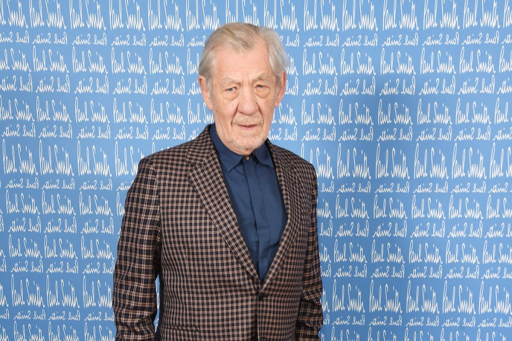 Sir Ian McKellen wearing Paul Smith attends the Paul Smith AW20 50th Anniversary show as part of Paris Fashion Week on January 19, 2020 in Paris, France | Dave Benett/Getty Images for Paul Smith