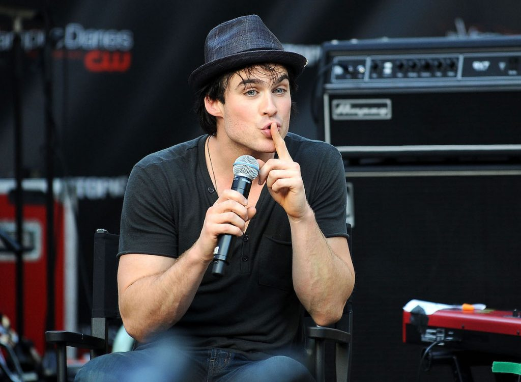 Ian Somerhalder at a meet and greet with 'The Vampire Diaries' fans