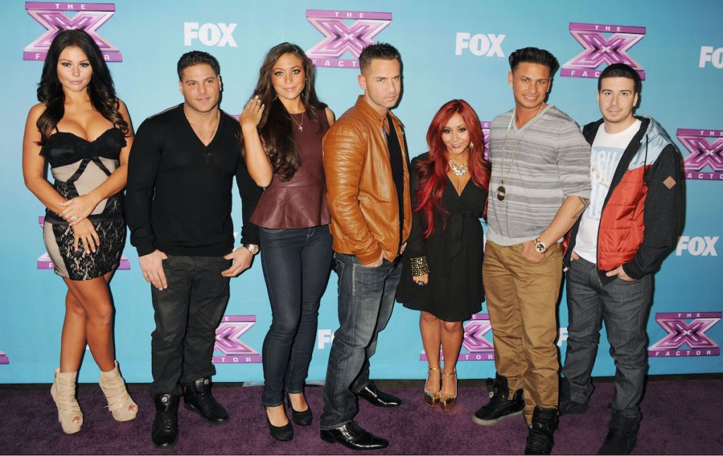 Jenni 'Jwoww' Farley, Ronnie Ortiz-Magro, Sammi 'Sweetheart' Giancola, Mike 'The Situation' Sorrentino, Nicole 'Snooki' Polizzi, Pauly DelVecchio, and Vinny Guadagnino