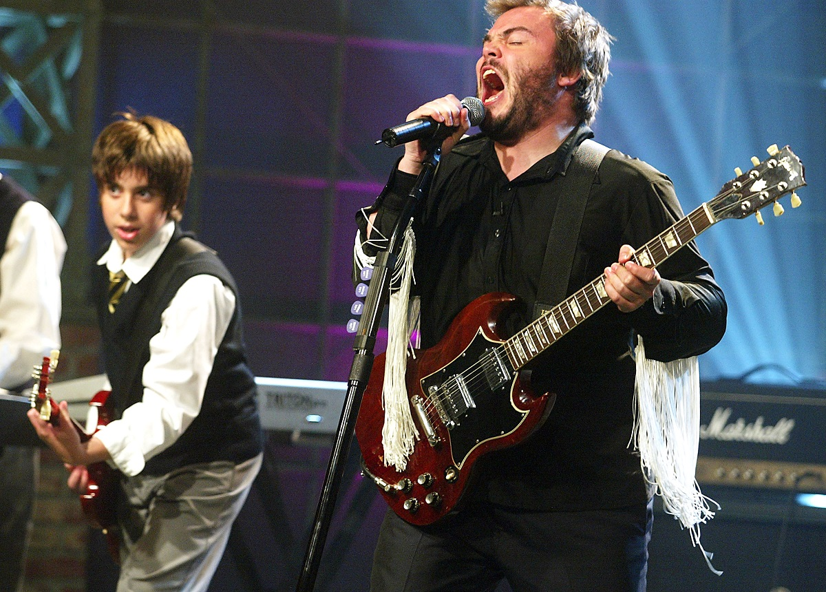 Jack Black and Joey Gaydos Jr. in 2003
