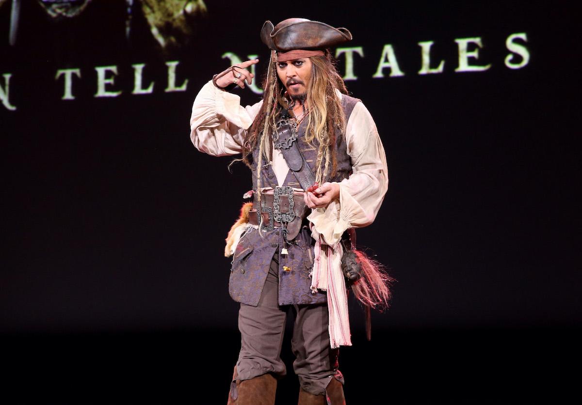 Johnny Depp as Captain Jack Sparrow at Disney's D23 EXPO
