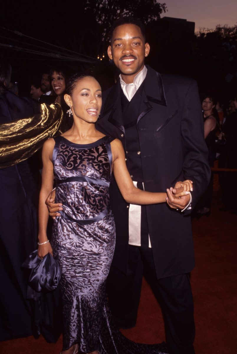 Jada Pinkett Smith and Will Smith attend the 68th annual Academy Awards