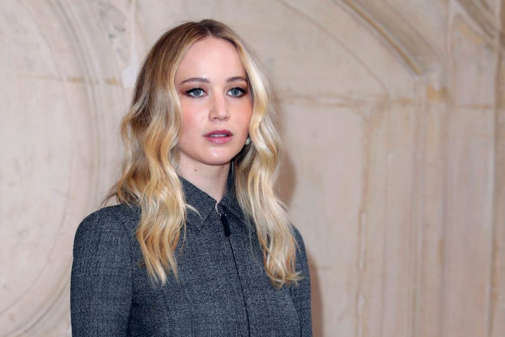 Jennifer Lawrence poses during a photocall prior to the Fall-Winter 2019/2020 Ready-to-Wear collection fashion show by Christian Dior in Paris, on February 26, 2019 | Thomas Samson/AFP via Getty Images