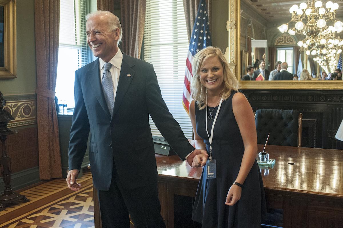 Joe Biden, Amy Poehler as Leslie Knope
