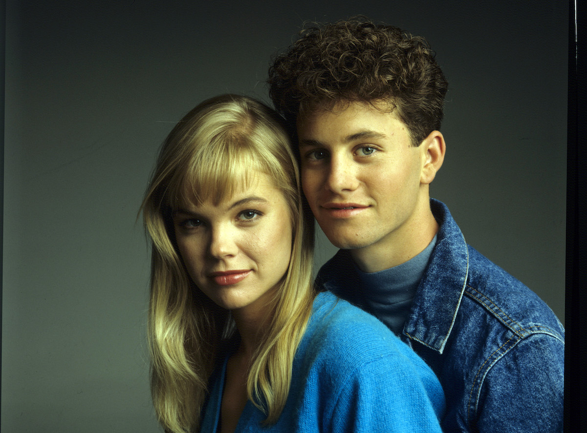 Julie McCullough and Kirk Cameron as Julie and Mike on 'Growing Pains'