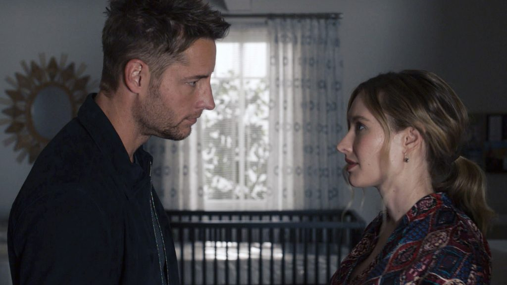 Justin Hartley as Kevin and Caitlin Thompson as Madison on 'This Is Us' Season 5 Episode 5 in 2021