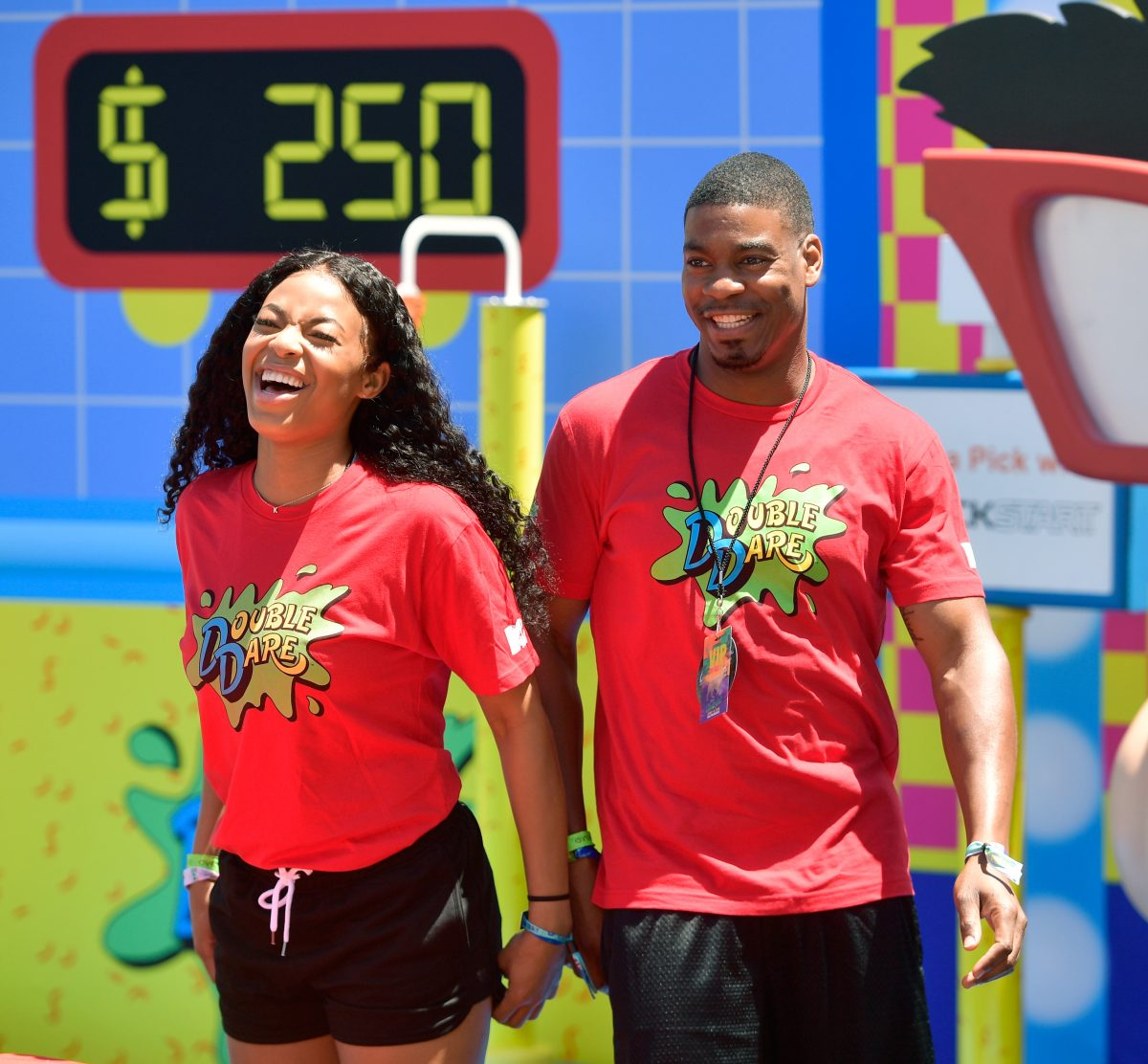 Kam Williams and Leroy Garrett attend Double Dare presented by Mtn Dew Kickstart at Comedy Central