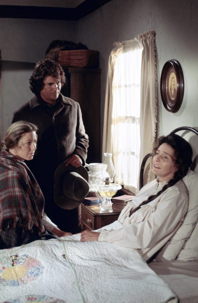 Karen Grassle, Michael Landon, and Patricia Neal of 'Little House on the Prairie'