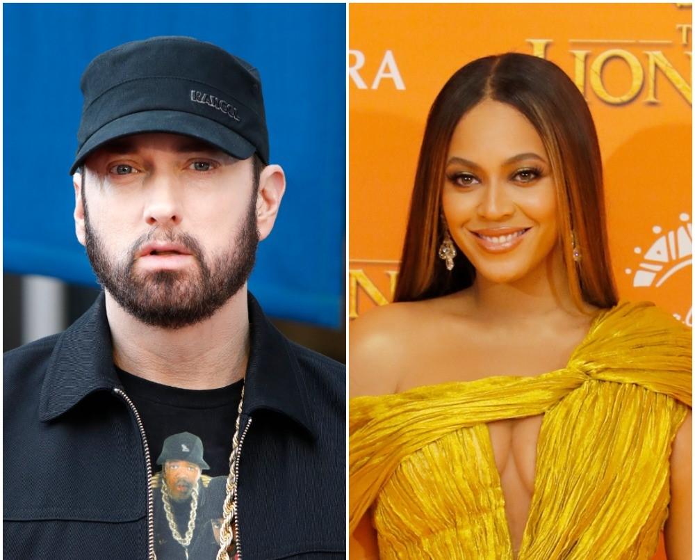 (L) Eminem, (R) Beyonce