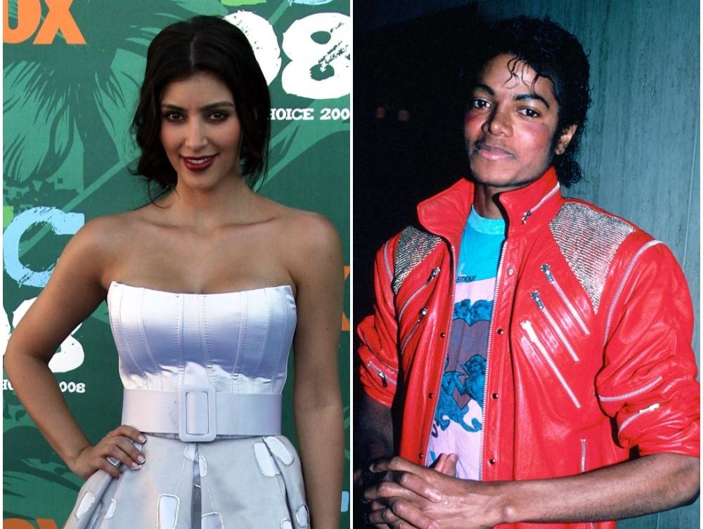 (L) Kim Kardashian, (R) Michael Jackson