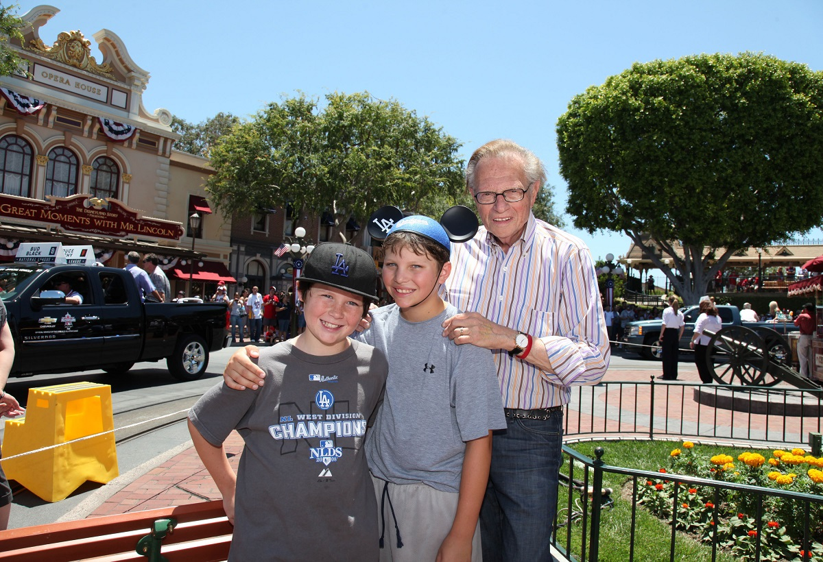Chance, Cannon, and Larry King in 2010