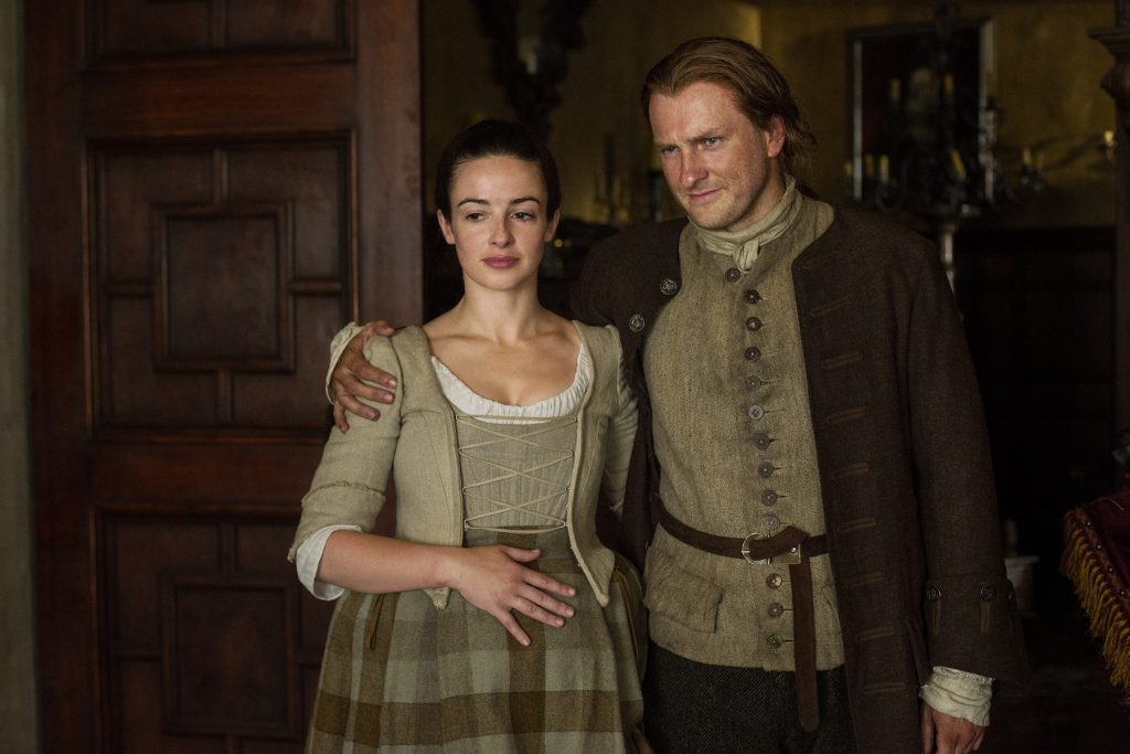 Laura Donnelly and Steven Cree on 'Outlander'