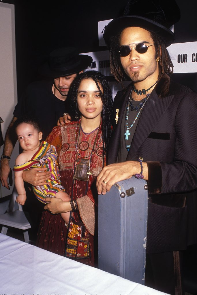 Lisa Bonet and Lenny Kravitz with daughter Zoe