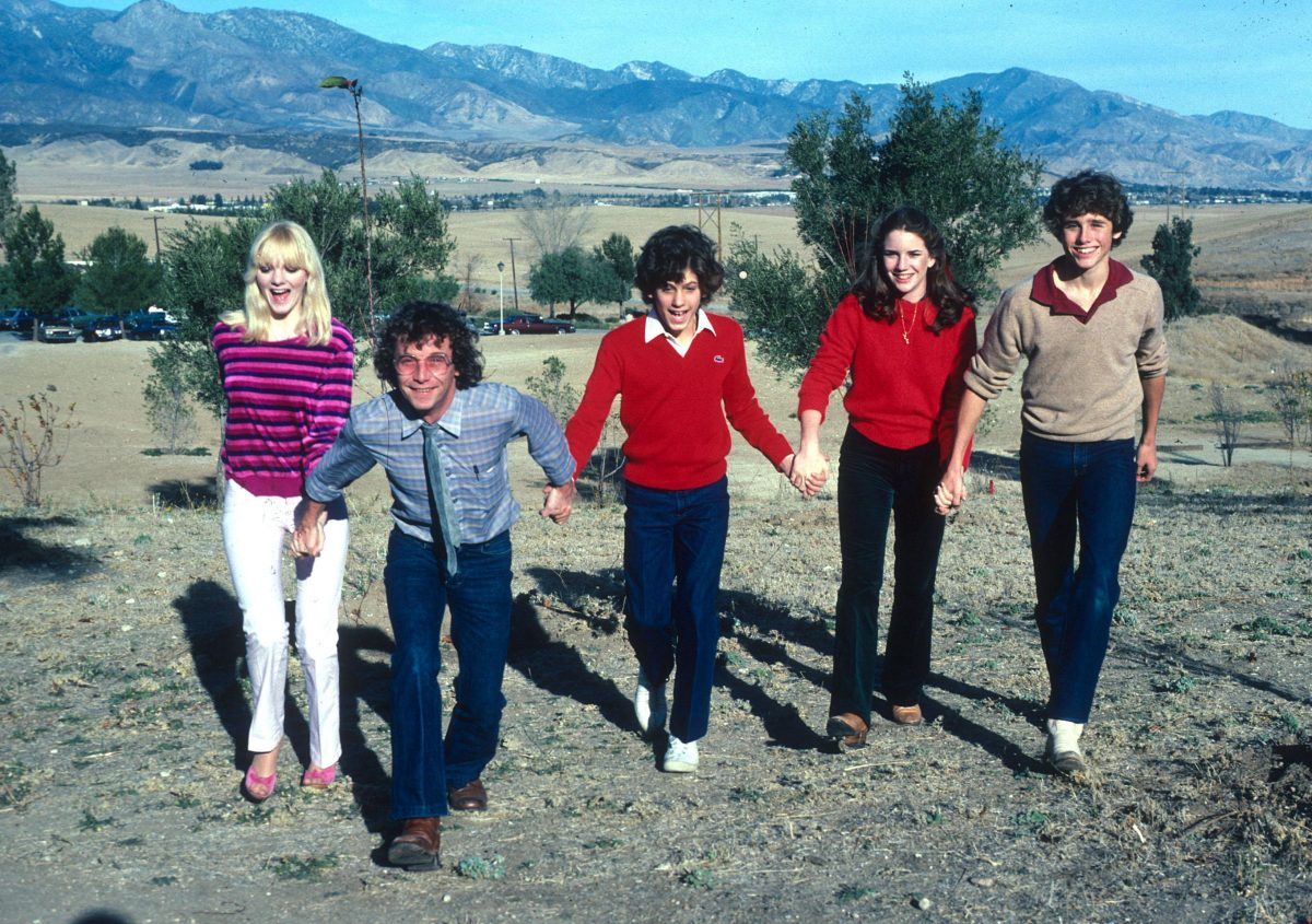 16 year old Melissa Gilbert and Jonathan Gilbert with the young cast from Little House on the Prairie